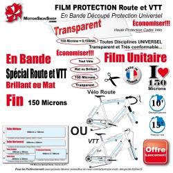 Film Protection cadre Vélo Route VTT standard Universel Bande Découpé