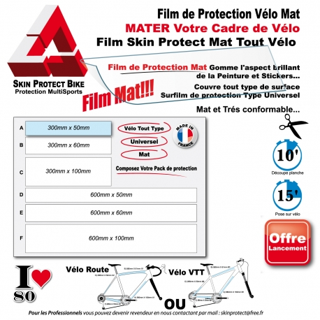 Film de Protection Mat Vélo Surfilm Mat