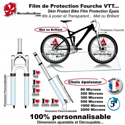 Film de Protection Fourche VTT Bande Mat ou Brillant