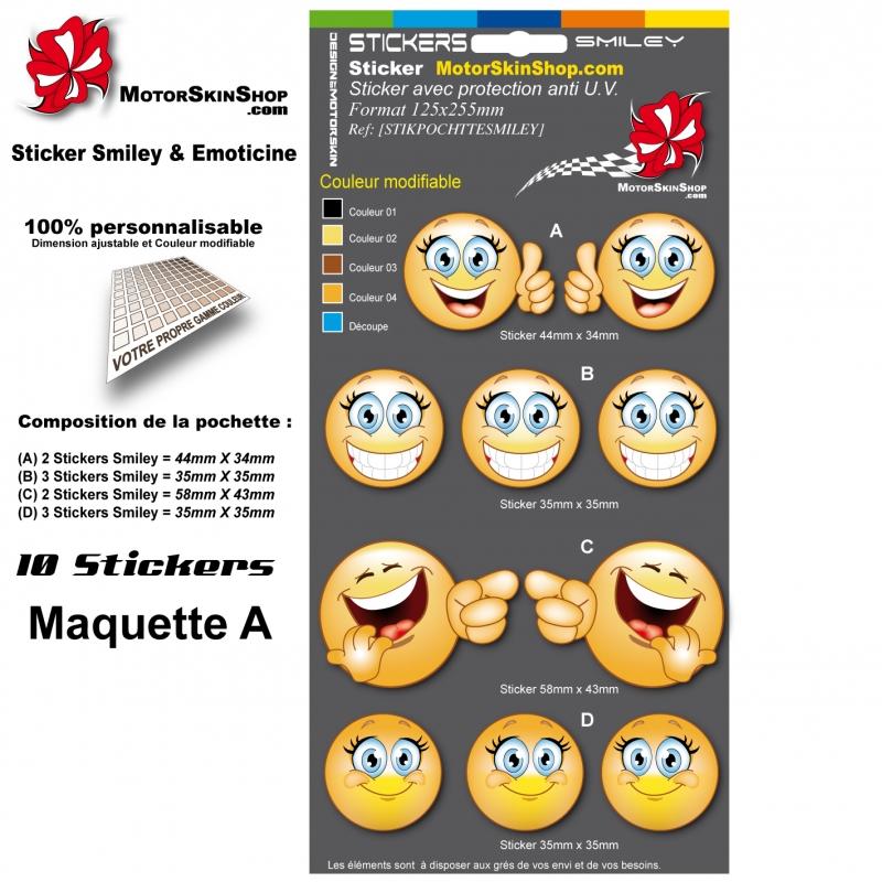 Planche Sticker Smiley Emoticon Casque