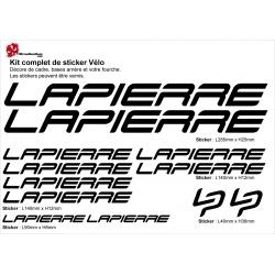 Sticker Lapierre Cadre Vélo 2014