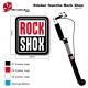 Sticker fourche Rock Shox VTT carré