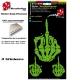 Planche Sticker Doigt D'honneur Squelette