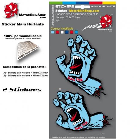 Planche Sticker Main Hurlante Santa Cruz
