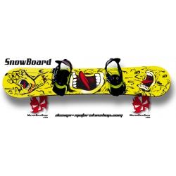 Sticker Snowboard bouche hurlante Santa Cruz