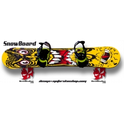 Sticker SnowBoard Monstre hurlante Santa Cruz