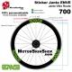 Sticker ENVE jante vélo roue 700 ou 650B