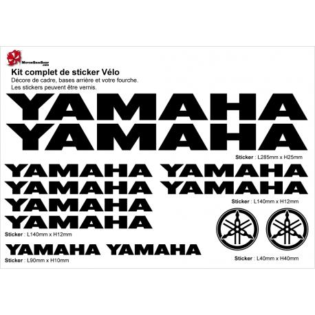 Sticker Yamaha Cadre Vélo