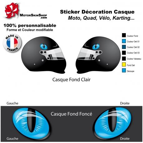 Sticker oeil Chat Casque aérographe yeux casque