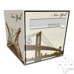 Sticker Boite aux lettres pont de New York