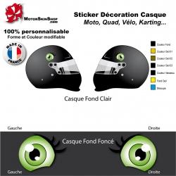 Sticker oeil Smiley Casque aérographe yeux casque