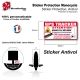 Sticker Antivol Monocycle électrique protection