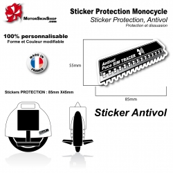 Sticker Puce Antivol Monocycle électrique protection