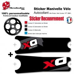 Sticker Manivelle XO Sram recouvrement couleur