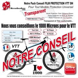 Notre Conseil PACK Film de Protection VTT DownHill 1000 Microns