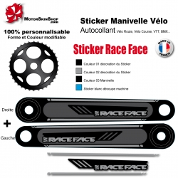 Sticker Manivelle Race Face personnalisable