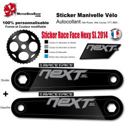 Sticker Manivelle Race Face Next SL 2014