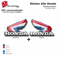 Sticker Honda aile couleur
