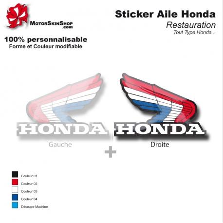 Sticker Honda aile couleur