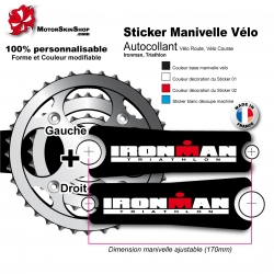 Sticker Manivelle Ironman Triathlon