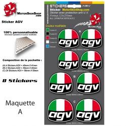 Planche Sticker AGV casque
