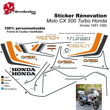 Sticker CX 500 Turbo Honda
