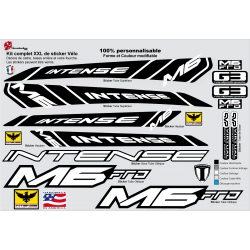 Sticker cadre Intense M6 FRO Taille XXl personnalisable
