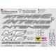 Sticker cadre Intense M6 FRO Logo Taille XXl