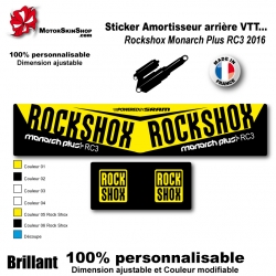 sticker amortisseur Rock Shox Monarch Plus RC3 2016
