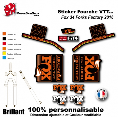 Sticker Fourche Fox 34 Forks Factory 2016