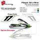 Sticker plaque Jet a Bras Numéro 750 sxi Kawasaki