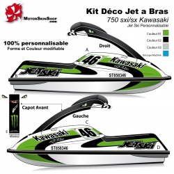 Kit déco Jet Ski 750 sxi/sx Kawasaki jet a bras