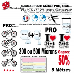 Rouleau Film Protection PRO VTT 300 Microns Pack Atelier