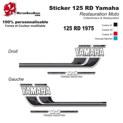Sticker 125 RD Moto Yamaha 1975