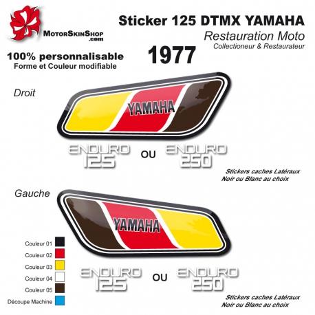 Sticker 125 DTMX Yamaha Marron