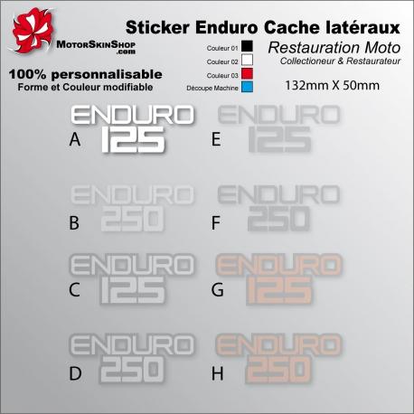 Sticker Enduro 125 Enduro 250 Enduro blanc Noir ou Rouge