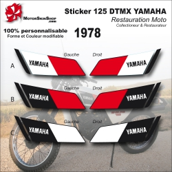 Sticker 125 DTMX Yamaha 1978