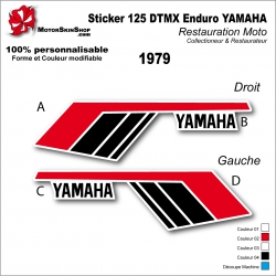 Sticker 125 DTMX Enduro 1979 Yamaha