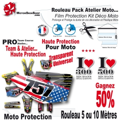 Roulau Film Protection Kit Déco Moto Cross PRO Pack Team course