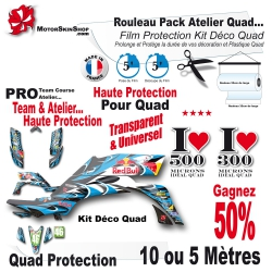 Rouleau Film Protection Quad Kit Déco PRO Pack Atelier Team course