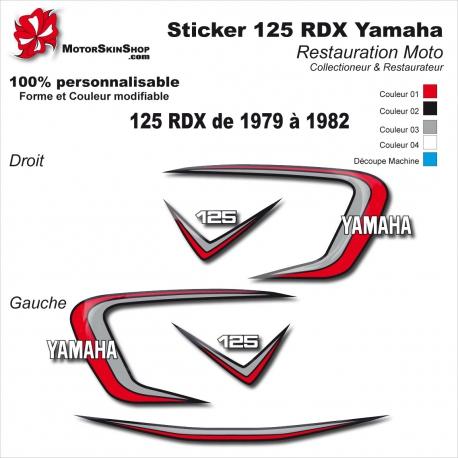 Sticker 125 RDX Moto Yamaha 1979 1980 1981 1982