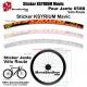 Sticker jante KSYRIUM SL Mavic Vélo route 700 ou 650B