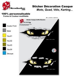 Planche Sticker casque Moto œil carrosserie