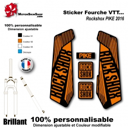 Sticker fourche Rockshox PIKE 2016