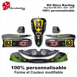 Kit déco Karting Tony Kart M6 Personnalisable Monster Energy Motorskin