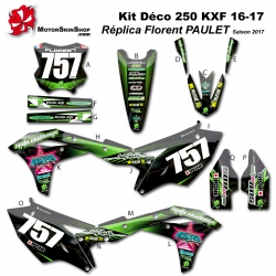 Kit déco 250 KXF 2017 Replica florent PAULET Saison 2017