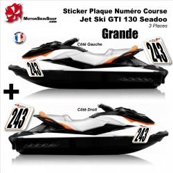 Sticker plaque numéro Jet Ski GTI 130 seadoo 3 places