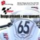 Sticker Plaque Avant Course Pour R6 YZF 2009 à 2017