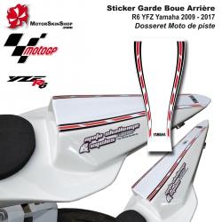 Sticker Garde Boue Arrière R6 YZF Yamaha 2009 - 2017