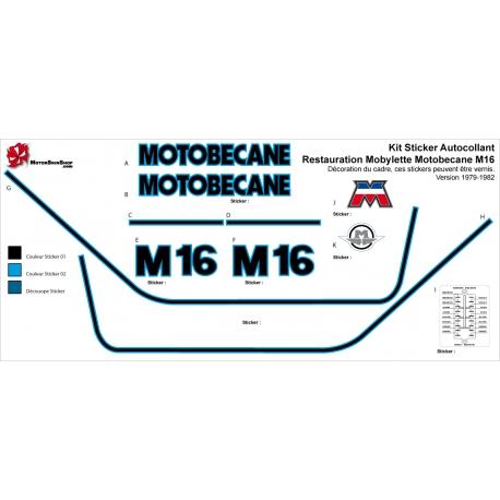 Sticker Restauration Mobylette Motobecane M16